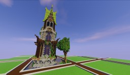 Elven tower (35x35 plot) Minecraft Project