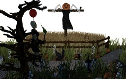 Fields and Scarecrow | Halloween 2017 Minecraft