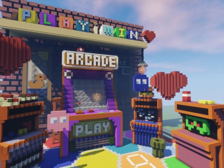 Hypixel Arcade Lobby Minecraft Project – Desenhos Para Colorir