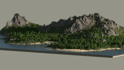 Mountain island - RPG Location 5000x5000 + download Minecraft Map & Project