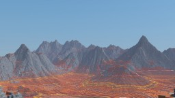 Mesa High Mountain Map Minecraft Project