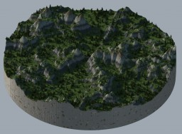 Montain 1200x1200[CYL] [Download] Minecraft Map & Project