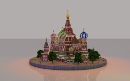 St. Basil's Cathedral in Moscow + Schematic Minecraft