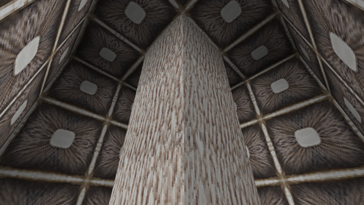 Inside a giant red mushroom