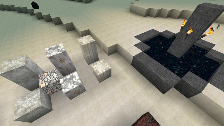 The End, plus some quartz blocks