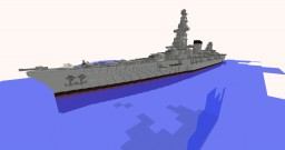 Fictional battleship Minecraft Project