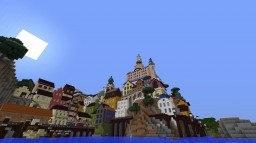 Small Coastal Town With Realistic Mounatin Minecraft Map & Project