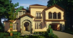traditional house - mediterranean style (spanish villa) Minecraft
