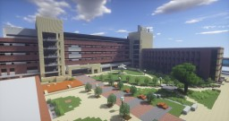 University of Texas at Arlington Central Campus 1:1 Scale Recreation Minecraft Project