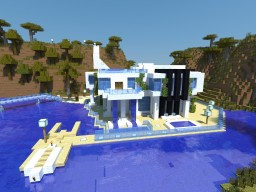Modern Beach Villa (+Yacht) [Updatet] Minecraft Map & Project