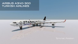 Airbus A340-300 Turkish Airlines [New model] [+Download] Minecraft Map & Project