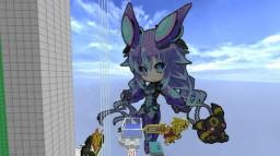 Pixel Art:NEXT Purple-Megadimension Neptunia VII/VIIR Minecraft Project