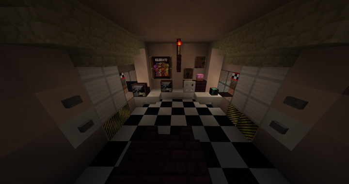 FNAF 1 Recreation [1 12] (No resource pack) Minecraft Project