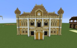 Russian Revival Style Town Hall Minecraft Map & Project