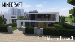 Small Modern House 3 (full interior) Minecraft Project
