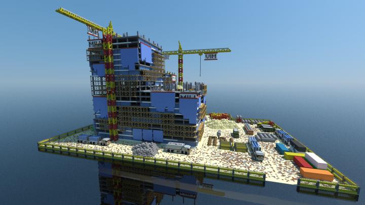 Construction Site Minecraft Project - Construction Minecraft