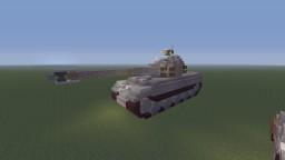 """WWII German Tiger II """"King Tiger"""" Heavy Tank, regular, Kuromorimine version and Henschel Winter camo Minecraft Project"""