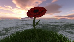 Building a Poppy for Remembrance day Minecraft Project