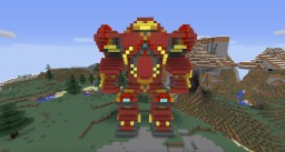 Giant Hulk Buster Iron Man Suit from Avengers Minecraft Project