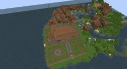 Town on the water + palace /Miasteczko na wodzie + pałac Minecraft Map & Project