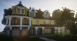 traditional house - victorian/suburban style Minecraft Project