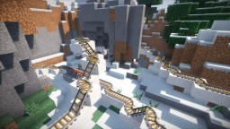 Winter - Large roller coaster Minecraft Project
