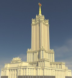 Administrative building in Zaryadye (8 Stalin skyscraper of Moscow) Minecraft
