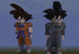 Variations Of Son Goku - Statues Minecraft Project