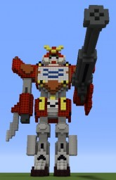 XXXG-01H Gundam Heavyarms Minecraft Map & Project