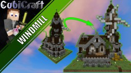 Medieval Rustic Windmill + Schematic Minecraft Map & Project