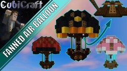 Fanned Air Balloon 'steampunk' + schematic Minecraft