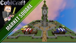 Medieval Rustic market square + schematic Minecraft Map & Project