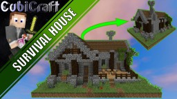 Survival Starter House + Interior + Schematic Minecraft Project