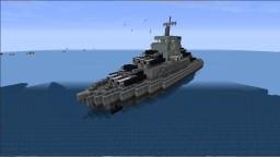 The Battleship Minotaur (Movecraft/Navycraft) WarShip Minecraft Map & Project