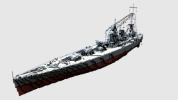 Brittish Battleship HMS Rodney 1:1 (1941) Minecraft Project