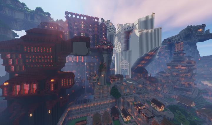 Castle World Overworld Map