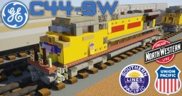[1.5:1 Scale] GE C44-9W diesel electric locomotives - CNW, SP & UP Minecraft Map & Project