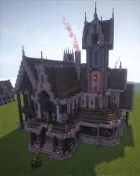 Quantum;Dark's Victorian mansion (Fully decorated) Minecraft Map & Project