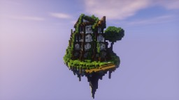 Tudor house on custom made Island Minecraft