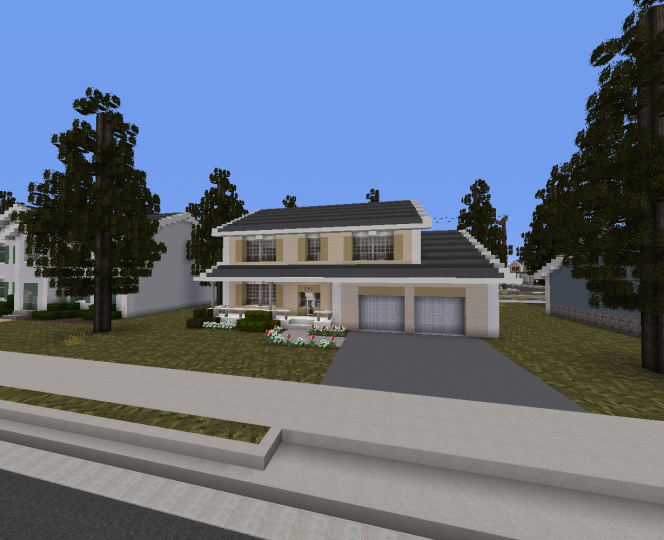 One of the middle class suburban houses in Windmere.