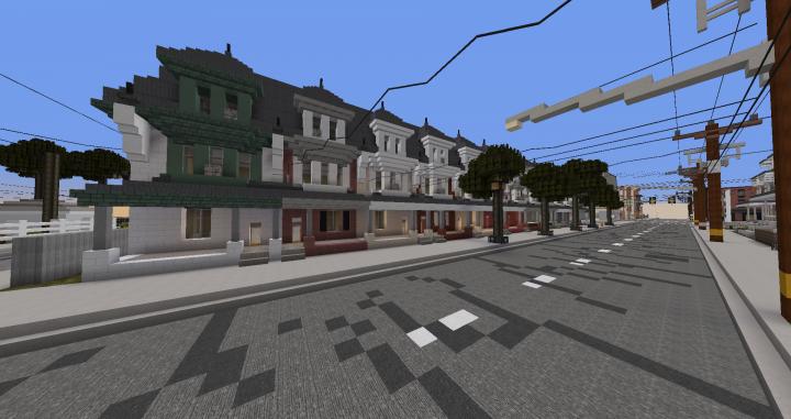 Rowhomes along Jailene Avenue in Hexwood.