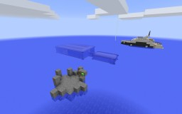 Underwater Modern House + Small Yacht Minecraft Project