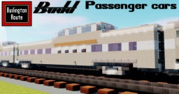 [1.5:1 Scale] CB&Q Streamlined Passenger cars Minecraft Map & Project