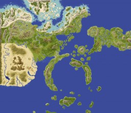 World map of Naruto - World Painter [8000x8000] Minecraft
