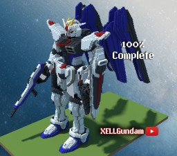 Gundam: Freedom (ZGMF-X10A) Minecraft Map & Project