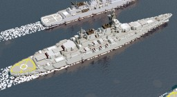 [MR] Misaki-class battleship Minecraft Map & Project