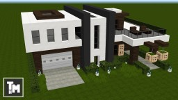 Minecraft: How To Build a Modern House / Mansion Easy (4K) (Episode 6) 2017 Minecraft Project