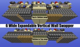 Minecraft - F.U.N. 6 Wide Expandable Vertical Wall Block Swapper Minecraft Project