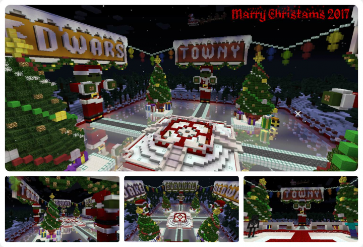Christmas Minecraft World.New Christmas Lobby Hub Zombieworld Minecraft Project