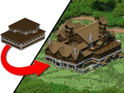EPIC Woodland Mansion Transformation! Minecraft